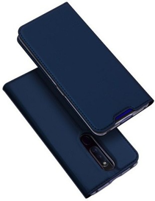 Vodex Flip Cover for Oppo F11 Pro(Blue, Dual Protection)