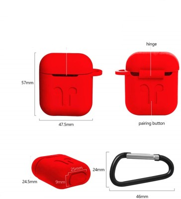 Colorcase Front & Back Case for Apple AirPods(Red, Silicon)