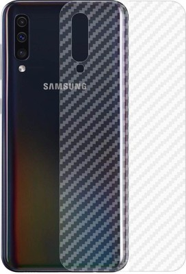 Marshland Back Screen Guard for Samsung Galaxy A50 3D Touch Feel Carbon Fiber Flexible Back Screen Protector Anti Scratch Bubble Free, Transparent(Pack of 1)