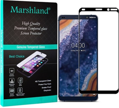 Marshland Tempered Glass Guard for Nokia 9, 9H Edge to Edge Full Glue Screen Protector Anti Scratch Oleo Phobic Coating Bubble Free(Pack of 1)