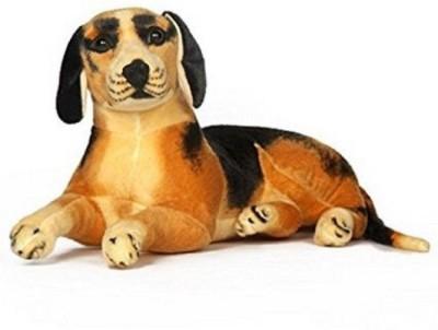 shop shandaar Cute Sitting Dog 40   40 cm Black, Brown shop shandaar Soft Toys