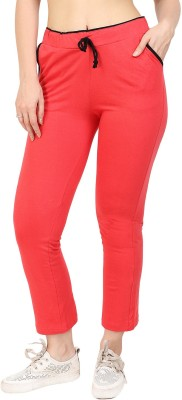 Fasha Solid Women Red Track Pants