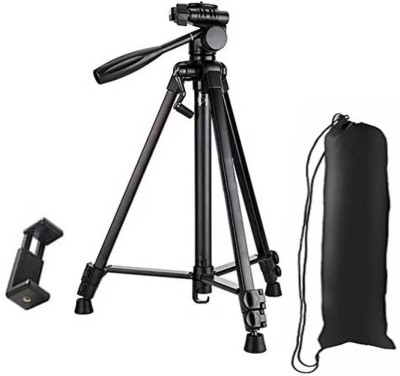 LIFEMUSIC Tripod-3388 Best Adjustable Aluminum Professional Foldable Heavy Duty Shooting A Tripod Kit(Black, Supports Up to 3000 g) 1