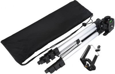BUY SURETY Tripod-Good Quality Portable, lightweight and affordable tripod with 3-way head Tripod + 3-Way Head Extend to 1020mm Built-in bubble level 360° horizontal and 90° vertical swivel with 4-sections aluminum legs Quick release leg lock Non-slip rubber feet Compatible with all Cameras and Ca 1