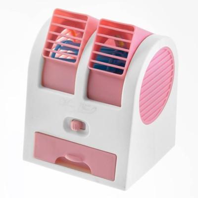 MVKA Mini Fan   Portable Dual Bladeless Small Air Conditione Mini Cooler USB Air Freshener Multicolor