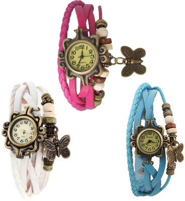 Swisslead Combo Watch For WomenDORII_WHITE_SKY-BLUE_PINK Analog Watch  - For Girls