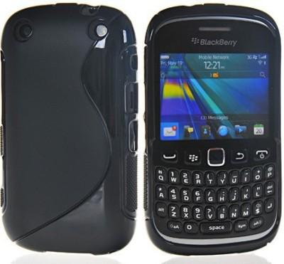 A-Allin1 Back Cover for Blackberry Curve 9220(Black, Silicon)