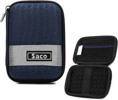 Saco Pouch for Seagate Expansion 1TB Portable External Hard Drive Casing Case Cover Enclosure Bag Sleeve wallet Blue, Hard Case