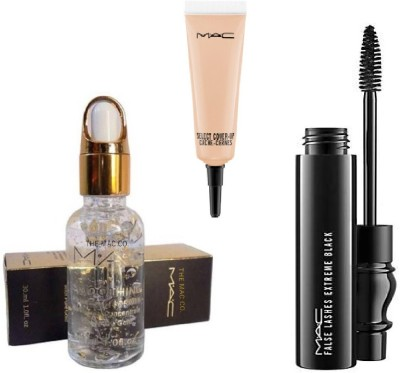 M.A.C gold primer base, mascara, canceler(Set of 3)