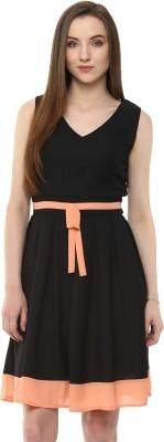 Pannkh Casual Sleeveless Solid Women Black Top at flipkart