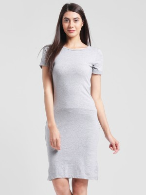 Rigo Women Fit and Flare Grey Dress