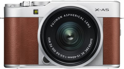 Fujifilm X Series X-A5 Mirrorless Camera Body with 15 - 45 mm Lens F3.5 - 5.6 OIS PZ(Silver, Brown)