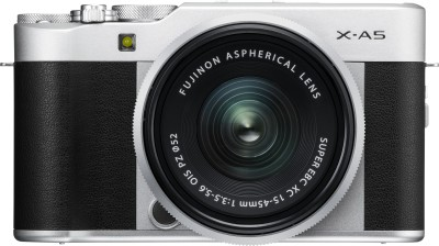 Fujifilm X Series X-A5 Mirrorless Camera Body with 15 - 45 mm Lens F3.5 - 5.6 OIS PZ(Silver, Black)