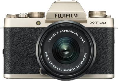 Fujifilm X Series X-T100 Mirrorless Camera Body with XC 15 - 45 mm Lens F3.5 - 5.6 OIS PZ(Silver, Black)