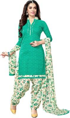 Saara Cotton Printed Salwar Suit Dupatta Material(Un-stitched)