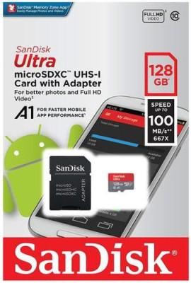 SanDisk SANDISK 128 GB MicroSD Card Class 10 100 MB/s Memory Card