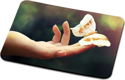 RADANYA Butterfly On Hand Mouse Pad 1652 Mousepad(Multicolor)