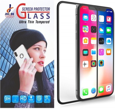 Jacure Edge To Edge Tempered Glass for iPhone X / XS 9H Full Coverage, Anti Glare, Easy Install, Bubble Free, Shatter Proof, Anti Scratch Guard Tempered Glass Screen Protectors For iPhone X(Pack of 1)