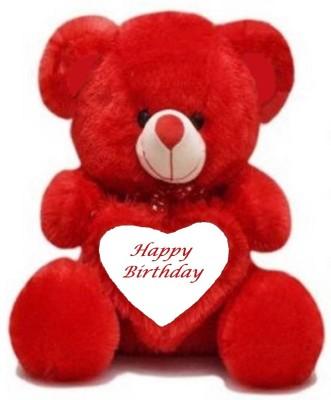 Shiddhi Toys Happy Birthday teddy bear Red soft cute   24 inch Red Shiddhi Toys Soft Toys