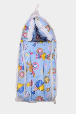 Hill stone 2 in 1 Baby Bed Cum Bedding Set Baby Carrier (sky blue) New Born Kids Carry Bed Carry Bed. Baby bad Cartoon(Fabric, Sky blue)