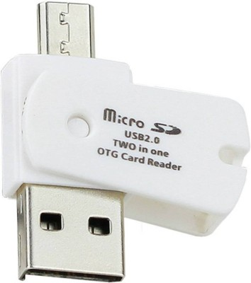 OXZA Micro SD OTG USB 2.0 TWO IN ONE ANDROID ADAPTOR Card Reader White OXZA Computer Peripherals