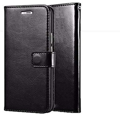 SESS XUSIVE Flip Cover for Leather Wallet Flip Book Cover Case For Lava Z91 - (Black )(Black, Dual Protection)