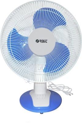 ORBIT Flash1 400mm Table Fan 400 mm 3 Blade Table Fan(White, Blue, Pack of 1)