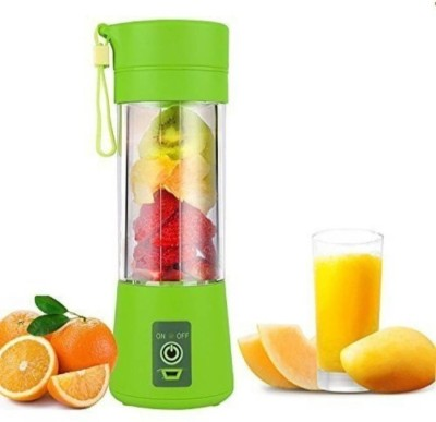 GORICH SS_JB_58 Mini Juicer Portable Eletric Juicer Cup 380ml Fruit Mixing Machine ,Glass Bottle (Green) 450 Juicer Mixer Grinder(Green, 1...