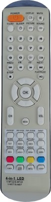 LipiWorld 4 in 1 V-MT22 / S-MT22 V-MST / S-MST LCD LED TV Remote Control Compatible for Videocon and Sansui - Grey Remote Controller(Grey)