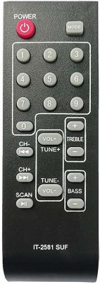 LipiWorld IT-2581 SUF Home Theater System Remote Control Compatible for INTEX Remote Controller(Black)