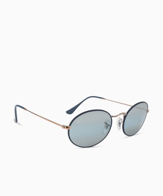 Ray-Ban Oval Sunglasses(Blue) at flipkart