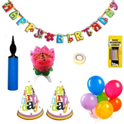 Zanekart Happy Birthday Decoration Combo Pack(Set of 8)