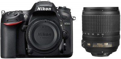 Nikon D7200 DSLR Camera Body with Single Lens: AF S 18   105 mm VR Lens Black