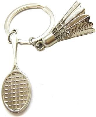 Flipkart SmartBuy Small Silver Badminton Shuttlecock Stainless Steel Key Chain