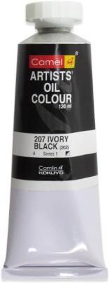 Camlin Kokuyo Artist Oil Colour 120 ml Series 1 Ivory Black(Set of 1, Ivory Black)