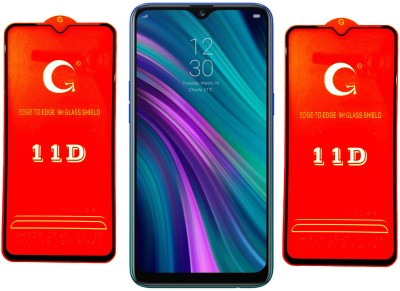 LORTZEA Edge To Edge Tempered Glass for Realme 3 Pro(Pack of 2)