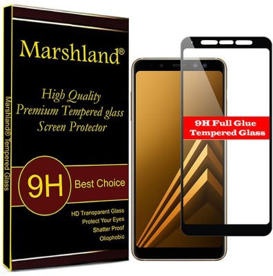 Marshland Tempered Glass Guard for samsung galaxy a9 2018?Black Pack of 1 Marshland Screen Guards