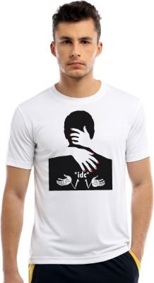 MILLIONIQUE Self Design Men Round Neck White T Shirt