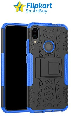 Flipkart SmartBuy Back Cover for Mi Redmi Note 7, Mi Redmi Note 7 Pro, Mi Redmi Note 7S(Blue, Black, Camera Bump Protector)