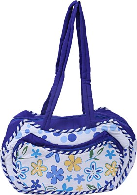 KUBER INDUSTRIES Cotton 1 Pieces Mamas Shoulder Diaper Bag for New Baby (Blue) -CTKTC6268 Shoulder Bag(Blue)