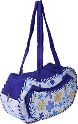 KUBER INDUSTRIES Cotton 1 Pieces Mamas Shoulder Diaper Bag for New Baby (Blue) -CTKTC6269 Shoulder Bag(Blue)