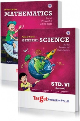 Std. 6th Perfect Maths and Science Notes, English Medium (Maharashtra Board) (Combo of 1 Maths and 1 Science Notes)(Paperback, Target Publications)