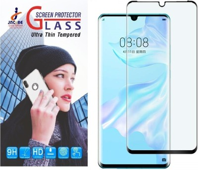 Jacure Edge To Edge Tempered Glass for Huawei P30 Pro Tempered Glass Full Coverage 3D Curved Anti Glare 9H Hardness Bubble-Free Anti-Scratch Tempered Glass Screen Protector P30 Pro(Pack of 1)