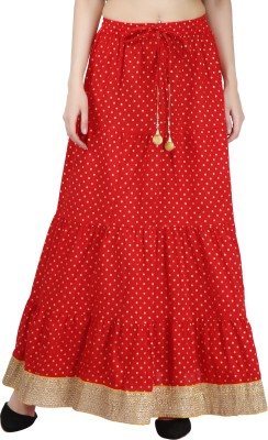 Magnus Polka Print Women Regular Red Skirt