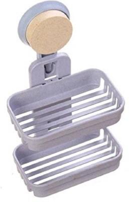 Pramukh Enterprise Two layer Soap Holder-(Muilticolor)(muilti)