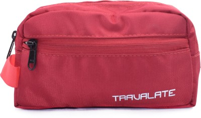 Travalate Polyester Multipurpose Travel Shaving Kit   Bag Red