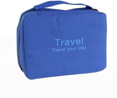 kiyo Travel Buddy Cosmetic Toiletry Shaving Jewelry Hanging Bag Organizer Travel Toiletry Kit Blue kiyo Travel Toiletry Kits