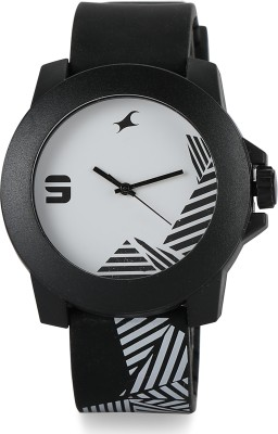 Fastrack NG38021PP10CJ Tees Analog Watch   For Men   Women Fastrack Wrist Watches