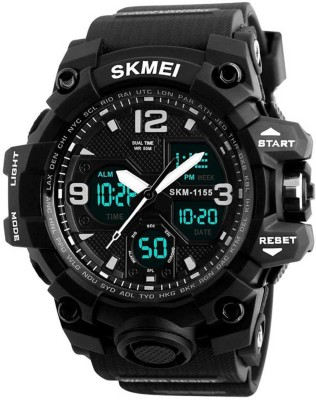 SKMEI Style Blacky Top Sports 01 Analog Digital Watch   For Men SKMEI Wrist Watches