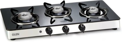 GLEN 1033GT Automatic Glass Cooktop(Gas Stoves) Glass Automatic Gas Stove(3 Burners) at flipkart